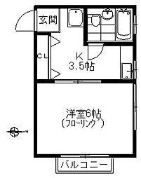 和荘[206号室]の間取り