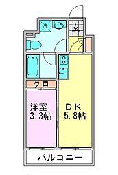 ルネッサンス21博多[710号室]の間取り