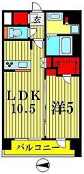 スプランディッド江東住吉 4階1LDKの間取り