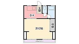 マンション香櫨園[4階]の間取り