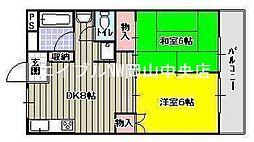 西川コーポ[3階]の間取り