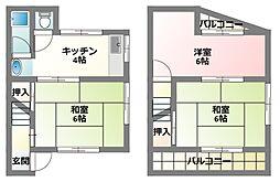 [テラスハウス] 大阪府寝屋川市高柳栄町 の賃貸【/】の間取り