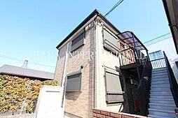 埼玉県越谷市蒲生茜町の賃貸アパートの外観