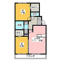 エアリースクエア A棟[1階]の間取り