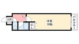 プライムハウス甲東園[405号室]の間取り