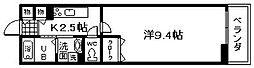 大阪府岸和田市吉井町3丁目の賃貸アパートの間取り