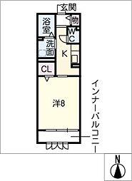 プルミエール(西)[1階]の間取り