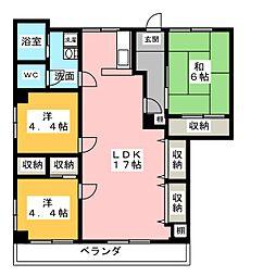 サンライズ文京[2階]の間取り