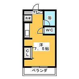 マンション F&A 3階ワンルームの間取り