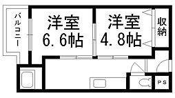本町ビル[0306号室]の間取り