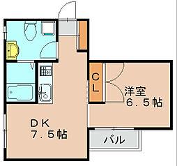 ベルクムントハイム[1階]の間取り