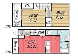 [タウンハウス] 千葉県千葉市若葉区殿台町 の賃貸【/】の間取り