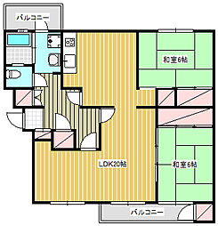 鎌倉グリーンハイツ A-4[2階]の間取り