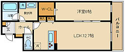 南本町7丁目 北棟(仮) 3階1LDKの間取り