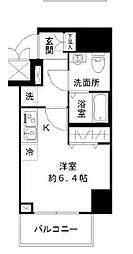 N-stage Toyoda 8階ワンルームの間取り