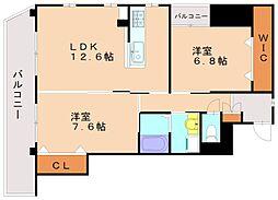 リクトール8[3階]の間取り