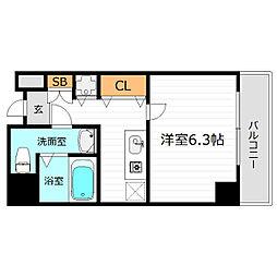 レクシア京橋[6階]の間取り