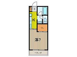 ドミール藤[1階]の間取り