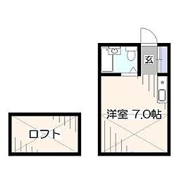 東京都西東京市田無町7丁目の賃貸アパートの間取り
