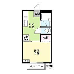 ジョイントファミーユA棟[2階]の間取り