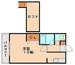 ベルトピア太宰府[1階]の間取り