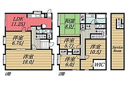 [一戸建] 千葉県千葉市若葉区都賀の台2丁目 の賃貸【/】の間取り