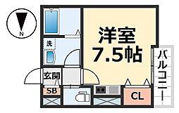 reside大庄西町[2階]の間取り
