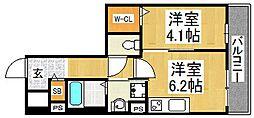 メゾン材木町[4階]の間取り