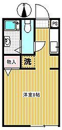 メゾンドルチェA[1階]の間取り