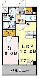 兵庫県明石市二見町西二見駅前の賃貸マンションの間取り