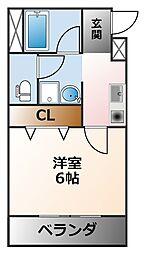 フォルム浦風町[3階]の間取り