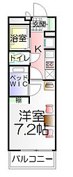 千葉県松戸市大谷口の賃貸マンションの間取り