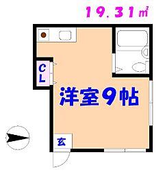 千葉県市川市真間2丁目の賃貸アパートの間取り