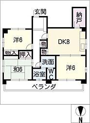 京命マンション[2階]の間取り