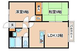 兵庫県神戸市西区宮下3丁目の賃貸アパートの間取り