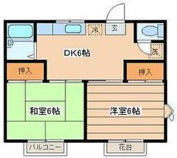 TKハイツ[2階]の間取り