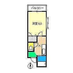 コーポあゆみII[2階]の間取り