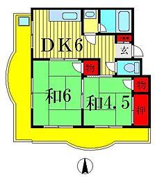 シェリーメゾンオジマ[4階]の間取り
