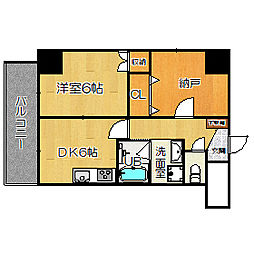 HERITAGE高井田[407号室]の間取り