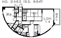 グレイシャス駒川[601号室号室]の間取り