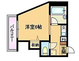 大阪府大阪市都島区都島本通2丁目の賃貸マンションの間取り