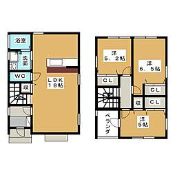 [一戸建] 愛知県名古屋市昭和区前山町3丁目 の賃貸【/】の間取り