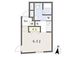 Branche神楽坂II 3階ワンルームの間取り