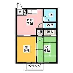 清光コーポ[1階]の間取り