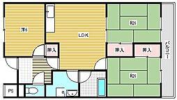 第3グリーンハイツ[3階]の間取り