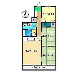 プロスパリティ扇[5階]の間取り