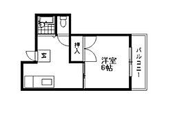 ハイツモンテB[2階]の間取り