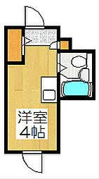 コスモ三条京阪マンション[303号室]の間取り