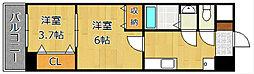 デザイナープリンセス77[5階]の間取り