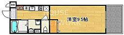 京都府京都市北区長乗西町の賃貸マンションの間取り